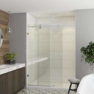Model 7800 - 56 to 60 in. X 76 in. Frameless Clear Duratuf Heavy Tempered Safety Glass Sliding Shower Door