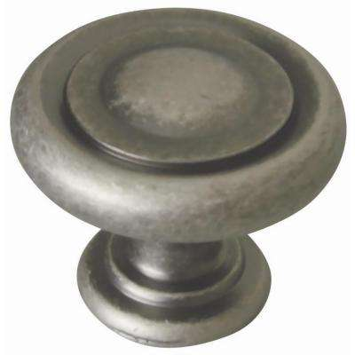 Town 1-1/4 in. Rustic Pewter Round Cabinet Knob