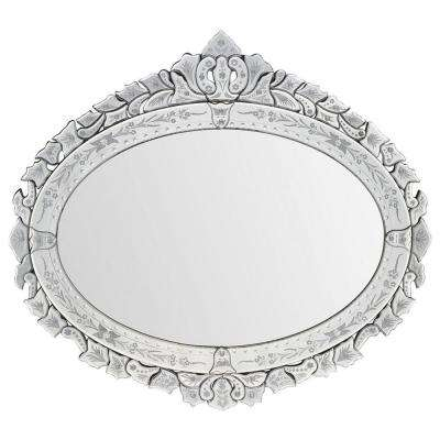 Luna 46 in. x 43 in. Traditional Framed Mirror