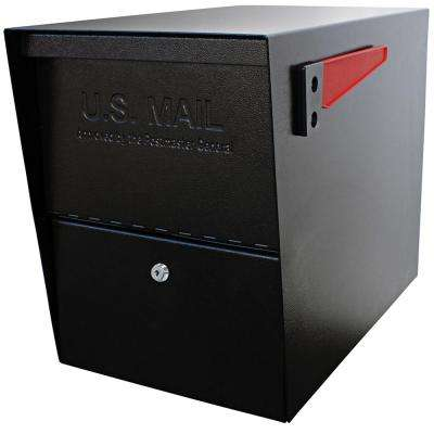 Package Master Black Post-Mount Locking Security Mailbox