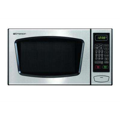 0.9 cu. ft. Countertop Microwave Oven in Stainless Steel