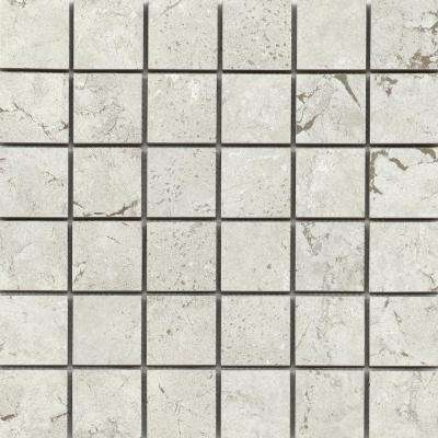 Newport Bay Matte 0.35 in. x 11.85 in. x 301mm Porcelain Mesh-Mounted Mosaic Tile (0.95 sq. ft.)