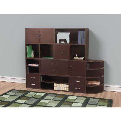 15 in. Espresso 2-Drawer Cube