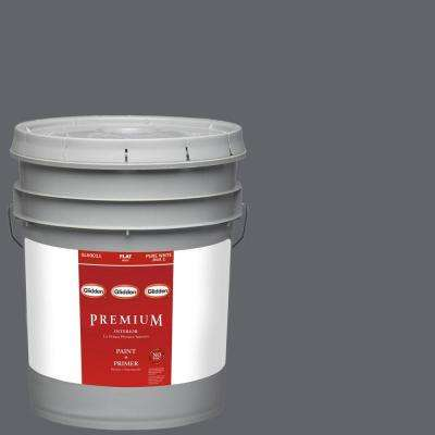 5-gal. #HDGCN39D Dark Grey Silk Flat Latex Interior Paint with Primer
