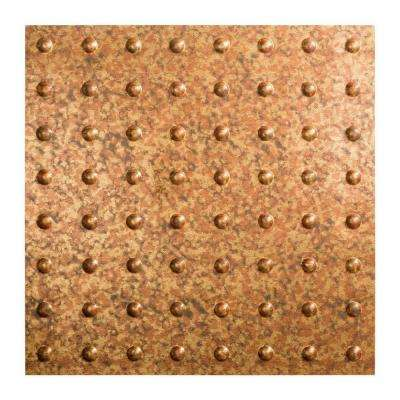 Dome - 2 ft. x 2 ft. Lay-in Ceiling Tile in Cracked Copper