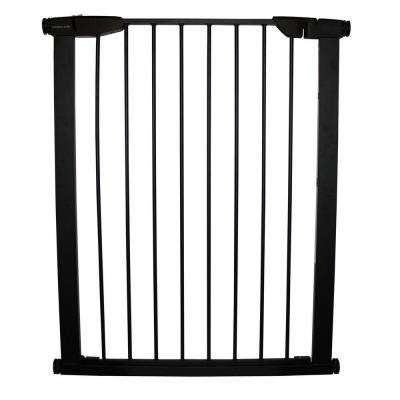 36 in. H x 29.5 in. to 32.5 in. W x 1 in. D Black Extra Tall Premium Pressure Gate