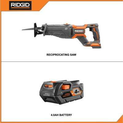 18-Volt OCTANE Lithium-Ion Cordless Brushless Reciprocating Saw with 4.0 Ah Lithium-Ion Battery