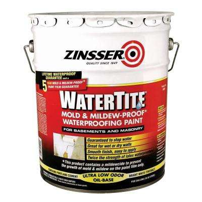 5 gal. WaterTite Mold and Mildew-Proof White Oil Based Waterproofing Paint