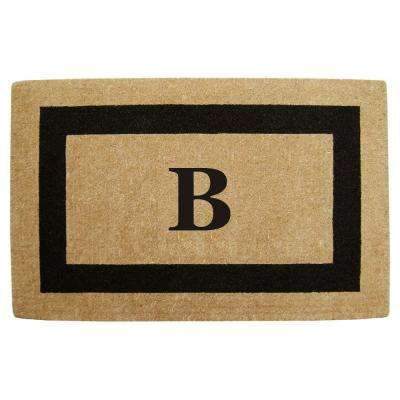 Single Picture Frame Black 30 in. x 48 in. HeavyDuty Coir Monogrammed B Door Mat