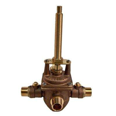 Universal 1/2 in. NPT0 4-Port with Service Stops BP Valve with Diverter