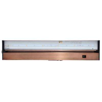 Pro-Series 22 in. Brushed Bronze LED Under Cabinet Light with Dimming Capability