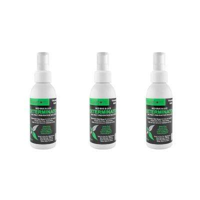 3 oz. Non Toxic Treatment, Natural Bugs and Lice Eradicator Travel Bed Bug Exterminator Spray (3-Pack)