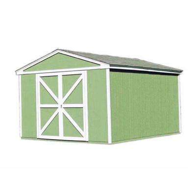 Somerset 10 ft. x 16 ft. Wood Storage Building Kit with Floor