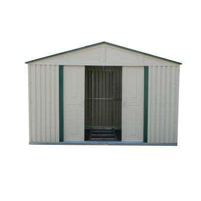 10 ft. x 10 ft. Green Trim Metal Shed-DISCONTINUED