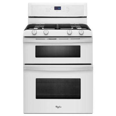 6.0 cu. ft. Double Oven Gas Range with Self-Cleaning Oven in White