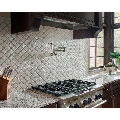 Bianco Arabesque 9.84 in. x 10.63 in. x 6mm Glazed Ceramic Mesh-Mounted Mosaic Tile (10.95 sq. ft. / case)