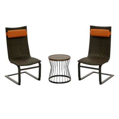 Highton 3-Piece Wicker Patio Spring Set