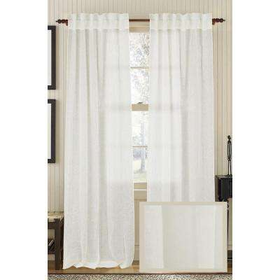 Ivory PLAIN Linen Air Rod Pocket Curtain - 50 in.W x 108 in. L