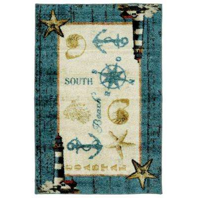 Coastal Shells Multi 2 ft. 6 in. x 3 ft. 10 in. Area Rug