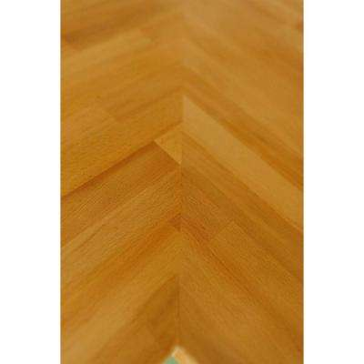 4 ft. 2 in. L x 2 ft. 1 in. D x 1.5 in. T Butcher Block Countertop in Unfinished Beech