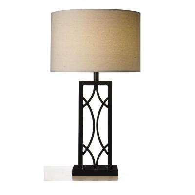 Swoop 30 in. Bronze Round Table Lamp