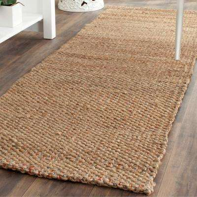 Natural Fiber Beige/Multi 3 ft. x 10 ft. Runner Rug