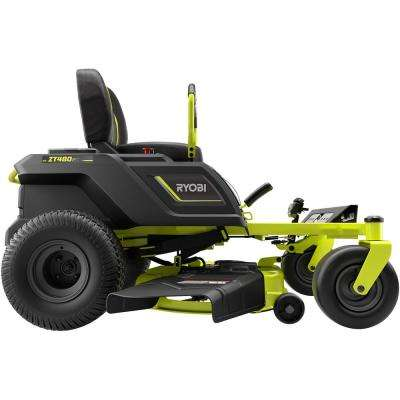 42 in. 100 Ah Battery Electric Zero Turn Riding Mower and Bagging Kit