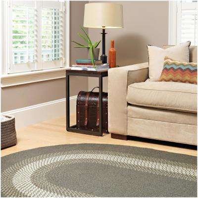 Chancery Navy 4 ft. x 6 ft. Oval Braided Area Rug