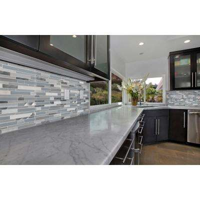 Harlow Interlocking 12 in. x 12 in. x 8 mm Textured Stone Glass Metal Mesh-Mounted Mosaic Tile (1 sq. ft.)