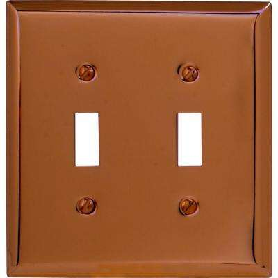 Century Steel 2 Toggle Wall Plate - Antique Copper