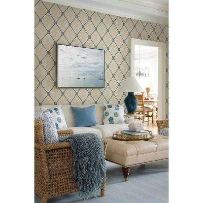 Tradewinds Beige Trellis Wallpaper