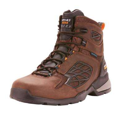 Men's Dark Brown Rebar Flex Work Waterproof Work Boot