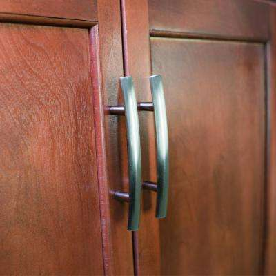 3 in. Satin Nickel Arched Drawer Center-to-Center Pull (6-Pack)
