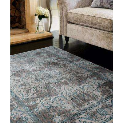 Soignee Windsor Turquoise 12 ft. 6 in. x 15 ft. 8 in. Oversize Rug