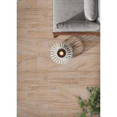 Pietra Vezio Beige 16 in. x 32 in. Polished Porcelain Floor and Wall Tile (10 cases / 106.7 sq. ft. / pallet)