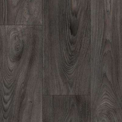 Scorched Walnut Charcoal 12 ft. Wide x Your Choice Length Residential Vinyl Sheet