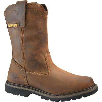 Wellston Men's Dark Brown Work Boots