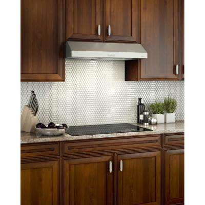 Glacier Deluxe 42 in. Convertible Under Cabinet Range Hood with Light in Stainless Steel