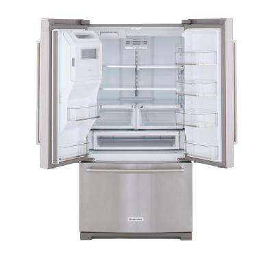 36 in. W 26.8 cu. ft. French Door Refrigerator in Stainless Steel