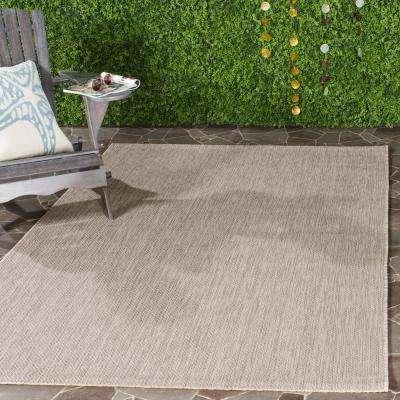 Courtyard Beige 5 ft. x 8 ft. Indoor/Outdoor Area Rug