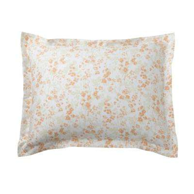 Shadow Floral Sateen Cotton Sham