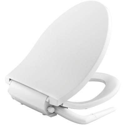 Puretide Non-Electric Bidet Seat for Elongated Toilets in White