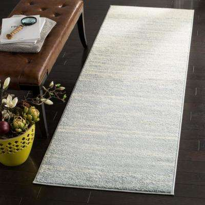 Adirondack Slate/Cream 2 ft. 6 in. x 6 ft. Runner Rug