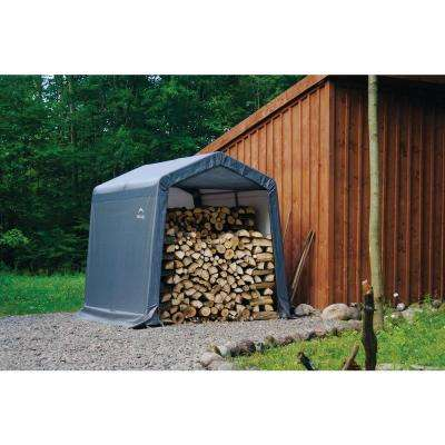8 ft. W x 8 ft. D x 8 ft. H Peak-Style Steel Shed-In-A-Box Storage Shed in Grey with Patented Stabilizers