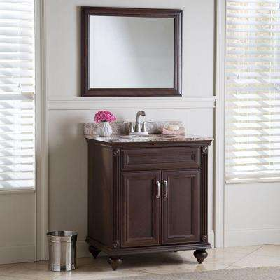 Annakin 30 in. W x 34 in. H x 22 in. D Bath Vanity Cabinet Only in Cognac