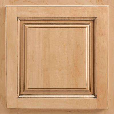 13x12-7/8 in. Cabinet Door Sample in Newport Maple Coffee Glaze