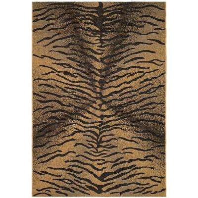 Courtyard Black/Natural 4 ft. x 5 ft. 7 in. Indoor/Outdoor Area Rug