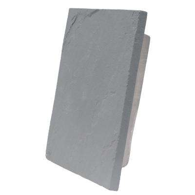 Sandstone Graphite 13 in. x 10 in. Gray Faux Polyurethane Large Universal Mounting Block