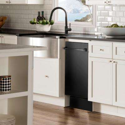 18 in. in Black Stainless Steel Top Control Dishwasher with Stainless Steel Tub