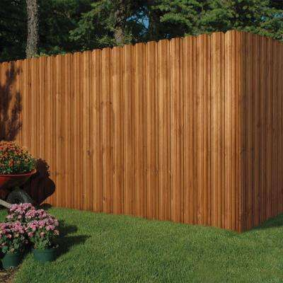 6 ft. x 6 ft. Pressure-Treated Cedar-Tone Moulded Wood Fence Panel Kit